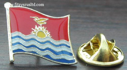 Kiribati Flag Lapel Hat Cap Tie Pin Badge Tarawa Ribaberiki Kiribati Republic of